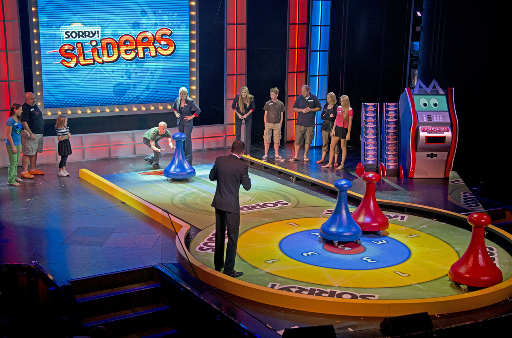 "Guests aboard the Carnival Breeze participate in ""Hasbro, The Game Show,"" where vacationers are part of the show through a series of larger-than-life productions based on the company's iconic and popular games. Photo by Andy Newman/Carnival Cruise Lines"